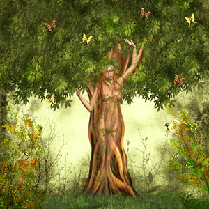 tree_woman_summer
